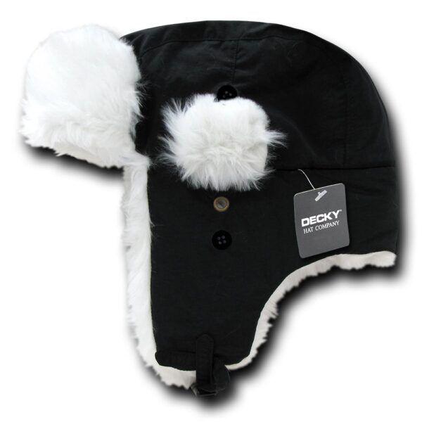 Aviator Hat Black & White