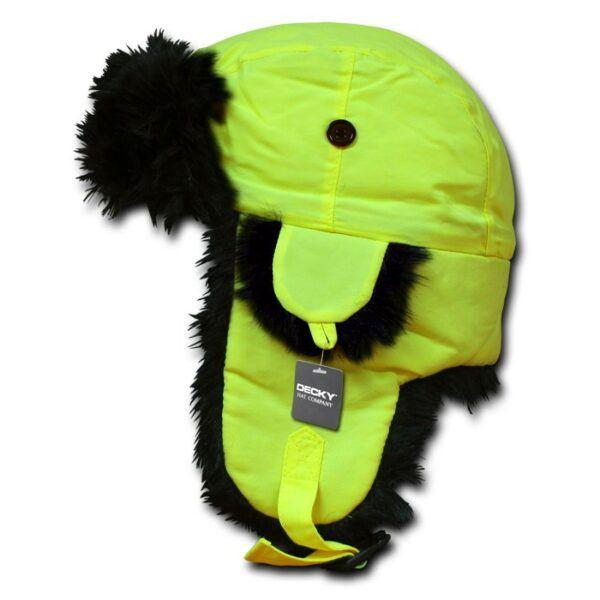 Neon Aviator Hat Navy Yellow
