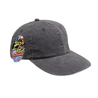 Otto Flex Dyed Cotton Twill Cap Black