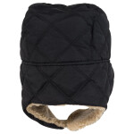 Quilted Three Panel Trapper Hat