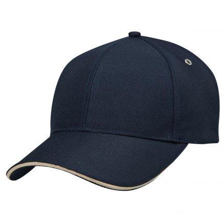 100% PET Cap Navy Sandstone