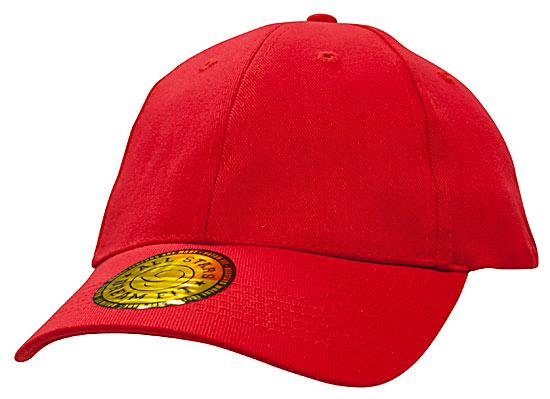 Brushed Heavy Cotton plus Spandex Cap Red