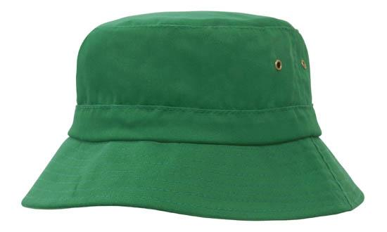 Brushed Sports Twill Youth Bucket Hat Emerald