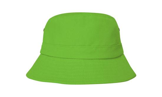 Brushed Sports Twill Youth Bucket Hat Green