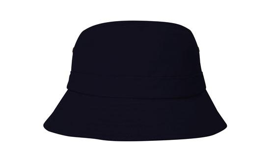 Brushed Sports Twill Youth Bucket Hat Navy