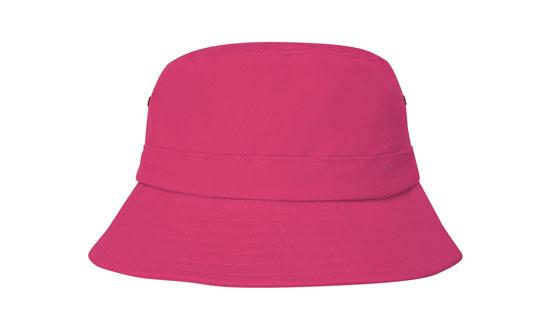 Brushed Sports Twill Youth Bucket Hat Pink