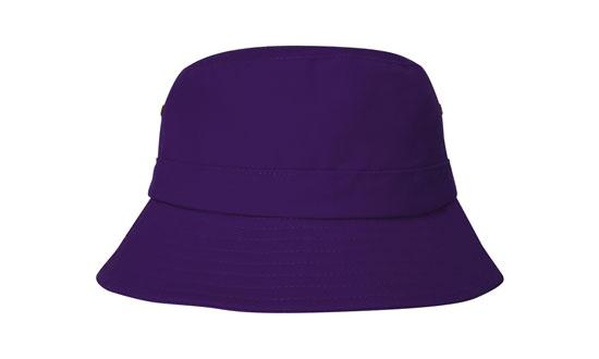 Brushed Sports Twill Youth Bucket Hat Purple