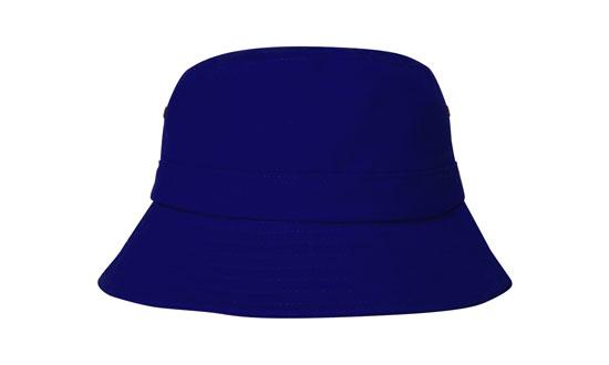 Brushed Sports Twill Youth Bucket Hat Royal