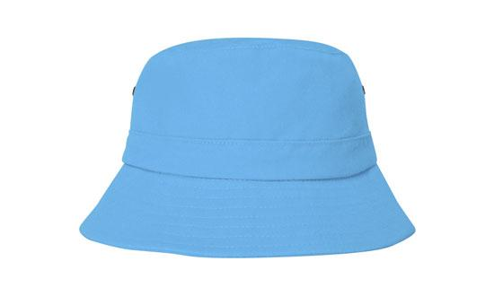 Brushed Sports Twill Youth Bucket Hat Sky