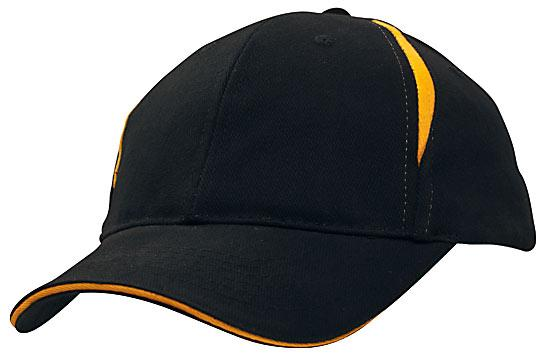 Crown Inserts Brushed Heavy Cotton Sandwich Cap Navy Gold