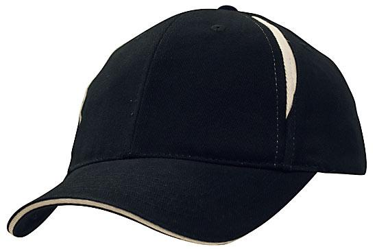 Crown Inserts Brushed Heavy Cotton Sandwich Cap Navy White