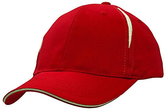 Crown Inserts Brushed Heavy Cotton Sandwich Cap Red White