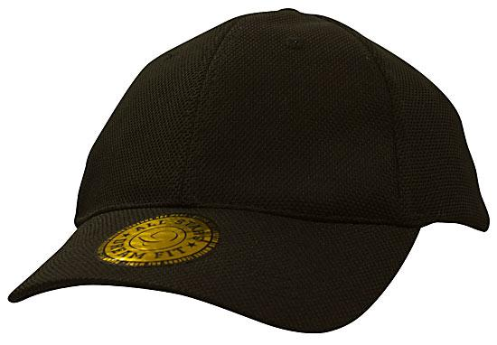 Dream Fit Style Double Pique Mesh Cap Black