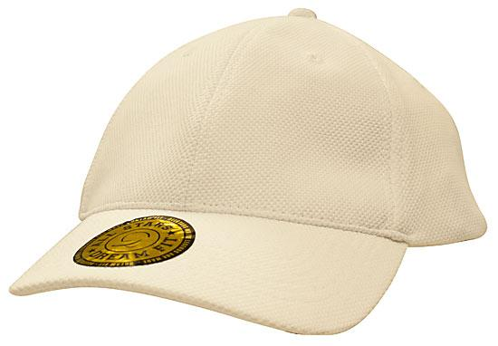 Dream Fit Style Double Pique Mesh Cap White