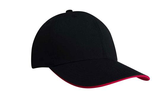 Duckbill Sandwich Recycled Earth Friendly Fabric Cap Black Red