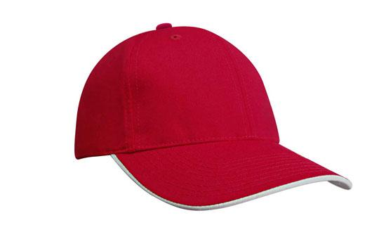 Duckbill Sandwich Recycled Earth Friendly Fabric Cap Red White