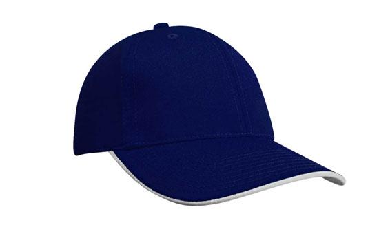 Duckbill Sandwich Recycled Earth Friendly Fabric Cap Royal White