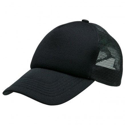 Foam Mesh Trucker Cap Black Black