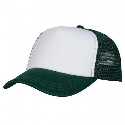 Foam Mesh Trucker Cap Bottle White