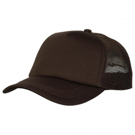 Foam Mesh Trucker Cap Brown Brown