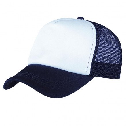 Foam Mesh Trucker Cap Navy White