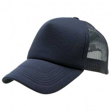 Foam Mesh Trucker Cap Navy