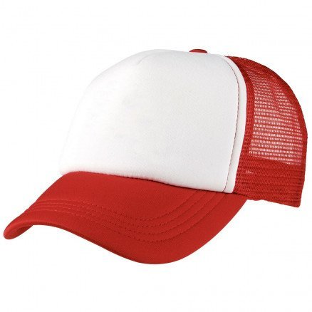 Foam Mesh Trucker Cap Red White