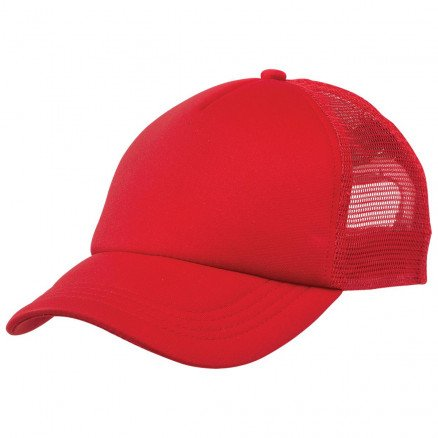 Foam Mesh Trucker Cap Red