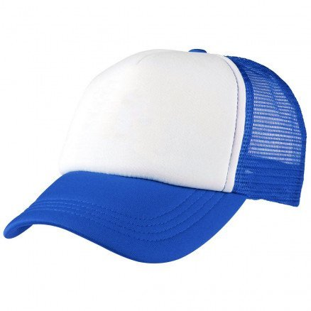 Foam Mesh Trucker Cap Royal White