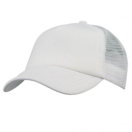Foam Mesh Trucker Cap White