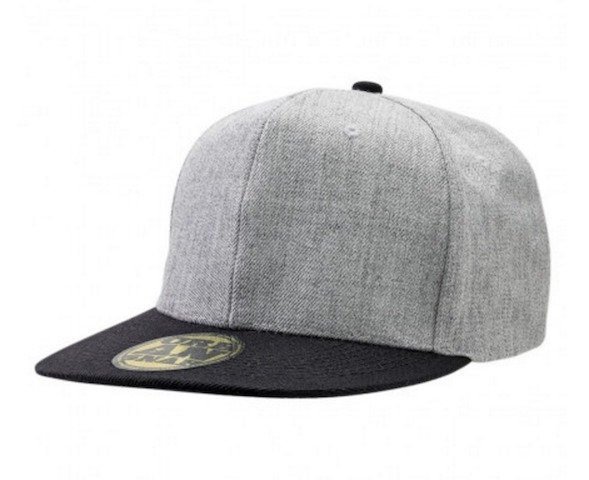 Freestyler Snapback Cap - Grey Marle - Black