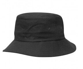 Kids Twill Bucket Hat Black