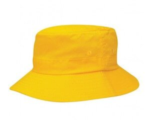 Kids Twill Bucket Hat Gold