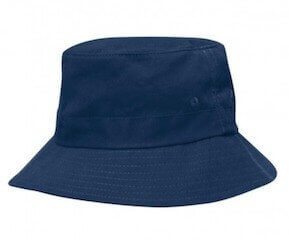 Kids Twill Bucket Hat Navy