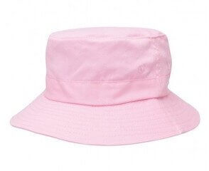 Kids Twill Bucket Hat Pink