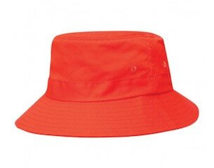 Kids Twill Bucket Hat Red