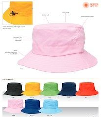 Kids Twill Bucket Hat Specifications