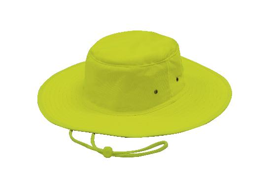 Luminescent Safety Hat Fluro Green