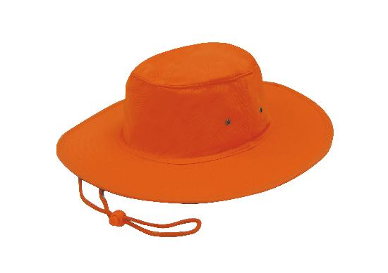 Luminescent Safety Hat Fluro Orange