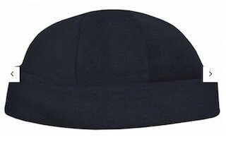 Polar Fleece Roll Beanie Black