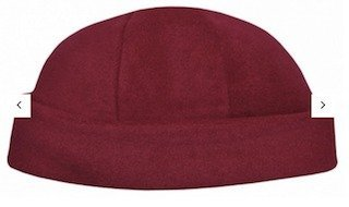 Polar Fleece Roll Beanie Maroon