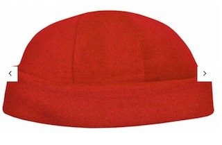 Polar Fleece Roll Beanie Red