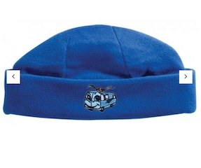 Polar Fleece Roll Beanie Royal