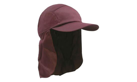 Poly Cotton Legionnaire Hat Maroon