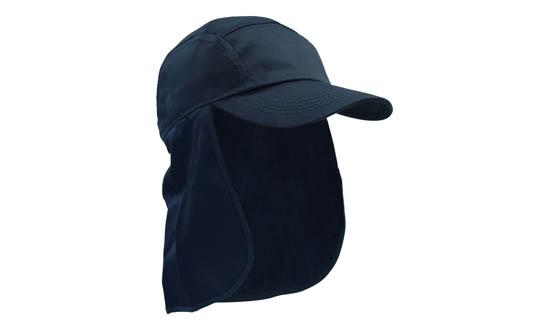 Poly Cotton Legionnaire Hat Navy