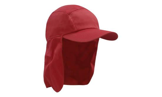 Poly Cotton Legionnaire Hat Red