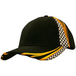 Printed Checks Brushed Heavy Cotton Cap