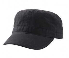 Ripstop Military Cap Black