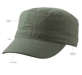9f4074b3d42e6 Ripstop Military Cap - Custom Promotional Baseball Caps