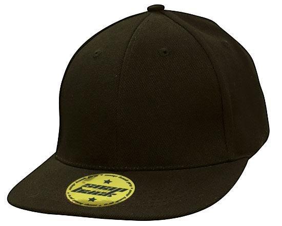 Snap Back Pro Style Premium American Twill Cap Black